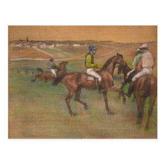 Cartão Postal Edgar Degas - cavalos de raça
