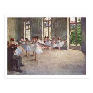 Cartão Postal Edgar Degas | o endereço novo do ensaio | do balé