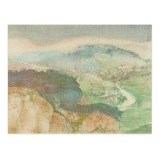 Cartão Postal Edgar Degas - paisagem