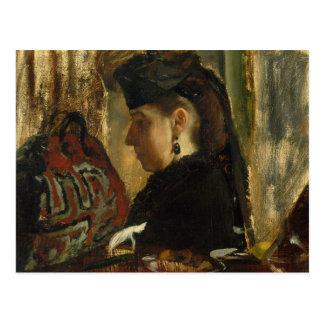 Cartão Postal Edgar Degas - senhorita Marie Dihau (1843-1935)