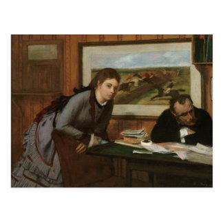 Cartão Postal Edgar Degas - Sulking