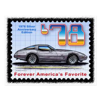 Cartão Postal Edição especial Corveta do aniversário 1978 de