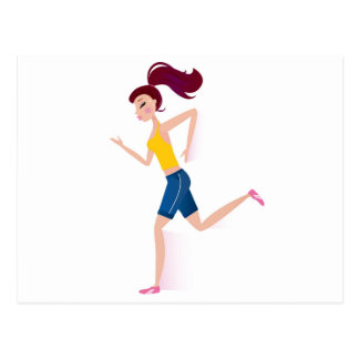 Cartão Postal Edição Running da menina
