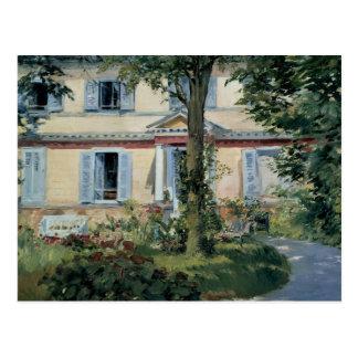 Cartão Postal Edouard Manet - a casa em Rueil