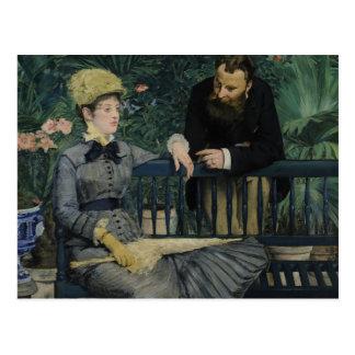 Cartão Postal Edouard Manet - no conservatório