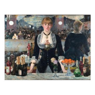 Cartão Postal EDOUART MANET - Um bar no Folies-Bergere 1882