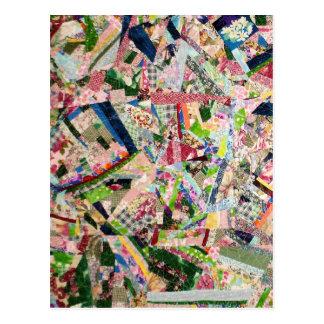 Cartão Postal Edredão louca em cores do primavera