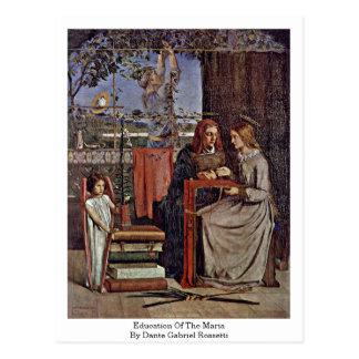 Cartão Postal Educação da Maria por Dante Gabriel Rossetti