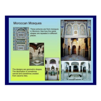 Cartão Postal Educação, história, elevação do Islão, mesquita
