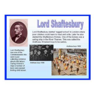 Cartão Postal Educação, reformistas, senhor Shaftesbury