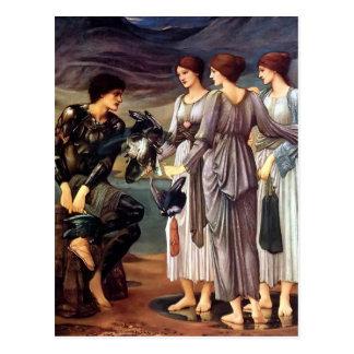 Cartão Postal Edward Burne-Jones o armamento de Perseus