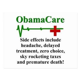 Cartão Postal Efeitos secundários de ObamaCare