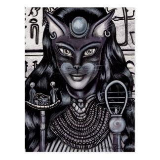 Cartão Postal Egípcio da deusa do gato da fibra