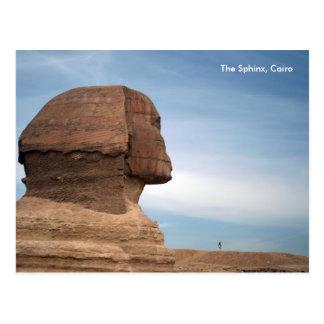 Cartão Postal Egipto 055, a esfinge, o Cairo