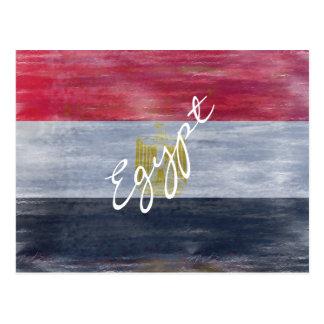 Cartão Postal Egipto afligiu a bandeira egípcia