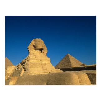 Cartão Postal Egipto, Giza, a esfinge, reino velho, Unesco