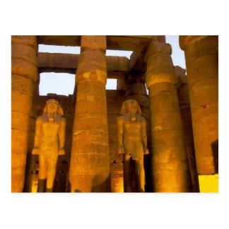 Cartão Postal Egipto, Luxor.  Templo de Karnack
