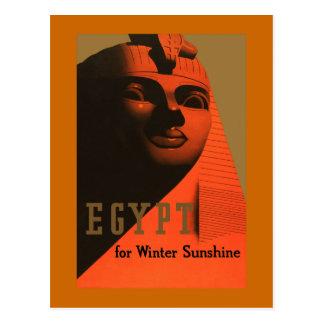 Cartão Postal Egipto para viagens vintage da luz do sol do