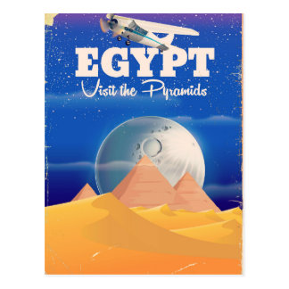 Cartão Postal Egipto - visite o poster das viagens vintage das