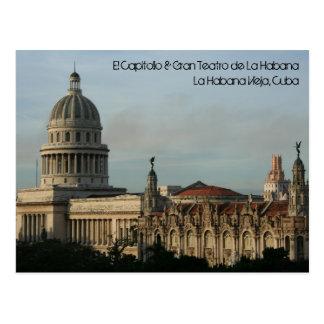 Cartão Postal EL Capitolio & Gran Teatro, Havana, Cuba