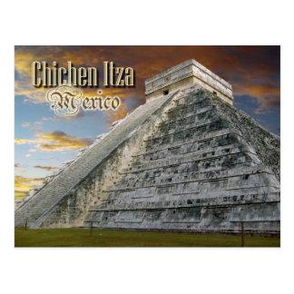 Cartão Postal EL Castillo em Chichen Itza, México