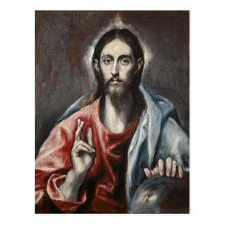 Cartão Postal El Greco - bênção do cristo
