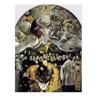 Cartão Postal EL Greco- o enterro da contagem de Orgaz