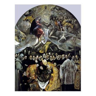 Cartão Postal El Greco sumário - o enterro da contagem de Orga