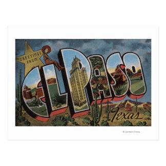 Cartão Postal El Paso, Texas - grandes cenas da letra