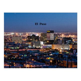 Cartão Postal El Paso, Texas na noite
