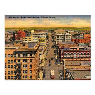 Cartão Postal El Paso, Texas, opinião de olho de pássaro,