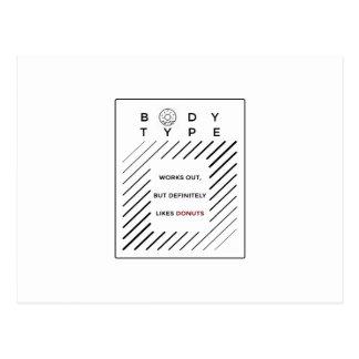 Cartão Postal Elabora rosquinhas dos amores
