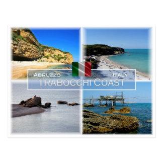 Cartão Postal ELE Italia - Abruzzo - costa de Trabocchi -