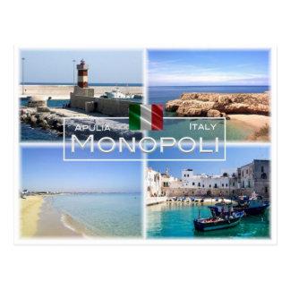 Cartão Postal ELE Italia - Apulia - Puglia - Monopoli -