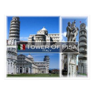 Cartão Postal ELE Italia - Toscânia - a torre inclinada de Pisa