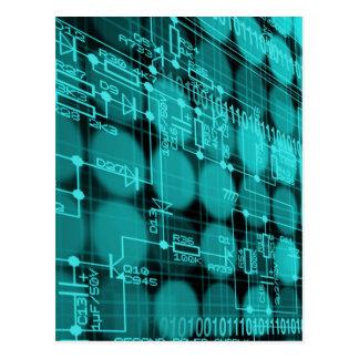 Cartão Postal ELE o conselho de circuito alta tecnologia do