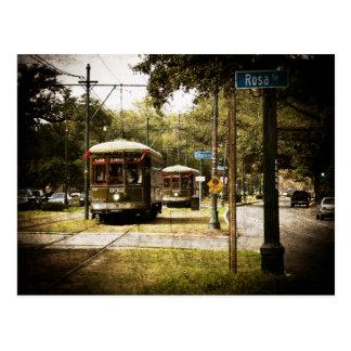 Cartão Postal Eléctricos da movimentação do parque de Rosa