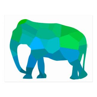 Cartão Postal Elefante 1 do mosaico