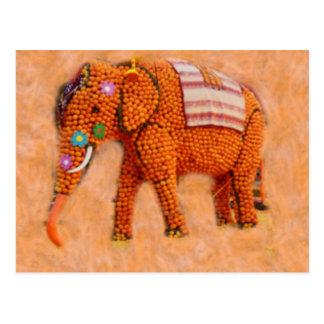 Cartão Postal Elefante alaranjado