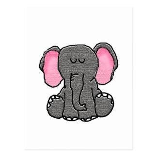 Cartão Postal Elefante bonito