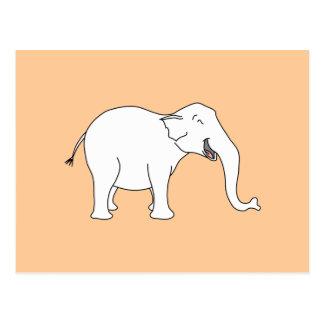 Cartão Postal Elefante branco de riso