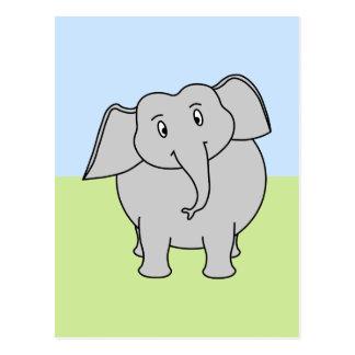 Cartão Postal Elefante cinzento