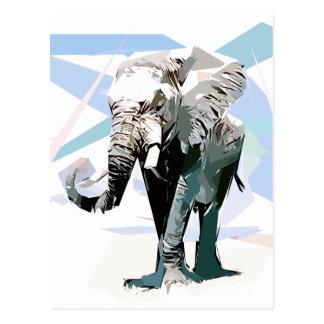 Cartão Postal Elefante da África