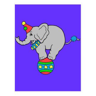Cartão Postal Elefante do circo