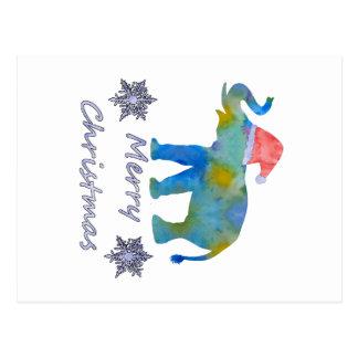 Cartão Postal Elefante do Natal
