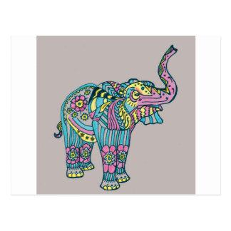 Cartão Postal Elefante feliz