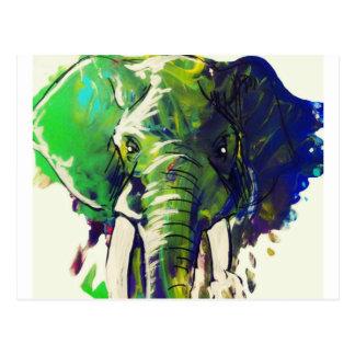 Cartão Postal Elefante lunático