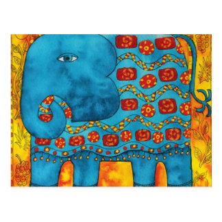 Cartão Postal Elefante modelado