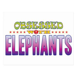 Cartão Postal Elefantes 2 obcecados