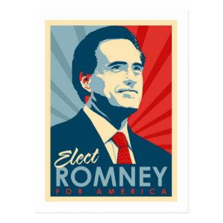 Cartão Postal Eleja Mitt Romney para o presidente